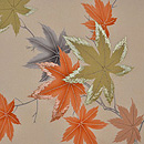 紅葉の図開き名古屋帯 前中心