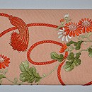 小菊に組紐の図名古屋帯 前中心