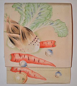 野菜の図名古屋帯