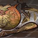 石榴刺繍の帯 質感・風合