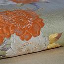 観世水に桜の図刺繍開き名古屋帯 質感・風合