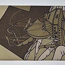 モダンアンティークポスター柄名古屋帯 前中心