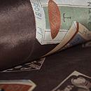 タバコのパッケージ柄名古屋帯 質感・風合