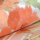 四季の花々の図刺繍名古屋帯 質感・風合