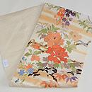四季の花々の図刺繍名古屋帯 帯裏