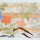 四季の花々の図刺繍名古屋帯 前中心