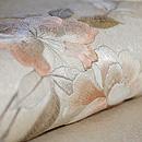 八重桜刺繍開き名古屋帯 質感・風合