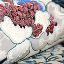 牡丹の図染め名古屋帯 質感・風合