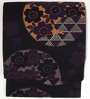 桜文様織袋帯