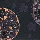 桜文様織袋帯 前中心