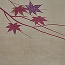 月に楓の図開き名古屋帯 前中心