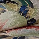 桃の図綴れ袋帯 質感・風合