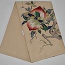 桃の図綴れ袋帯 帯裏