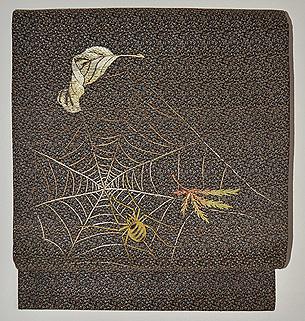 蜘蛛の刺繍名古屋帯
