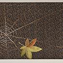蜘蛛の刺繍名古屋帯 前中心