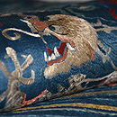 雲文宝珠に昇り龍の図刺繍名古屋帯 質感・風合