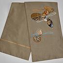 瓢箪の図刺繍付帯 帯裏