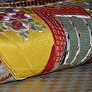 市松に貝合わせ刺繍丸帯 質感・風合