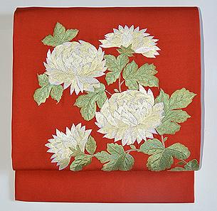大輪菊の名古屋帯
