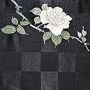 野薔薇刺繍開き名古屋帯 前中心