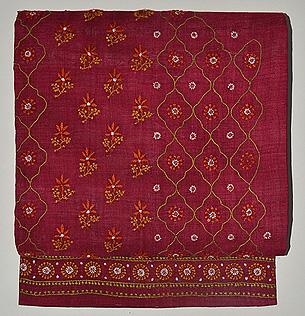 赤地刺繍名古屋帯