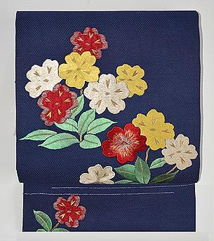 桜草刺繍名古屋帯