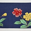 桜草刺繍名古屋帯 前中心