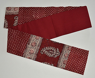 インド更紗半幅帯