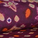 絞りプランギン手紡ぎ絹地名古屋帯 質感・風合