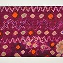 絞りプランギン手紡ぎ絹地名古屋帯 前中心