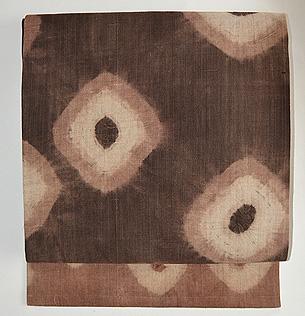大きな絞り文様木綿地名古屋帯