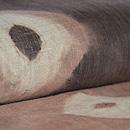 大きな絞り文様木綿地名古屋帯 質感・風合