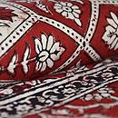 インド更紗小花繋ぎ文様名古屋帯 質感・風合