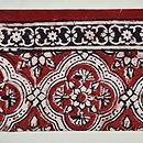 インド更紗小花繋ぎ文様名古屋帯 前中心