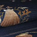 海松貝刺繍絽綴れ帯 質感・風合