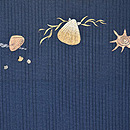 海松貝刺繍絽綴れ帯 前中心
