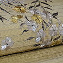 撫子刺繍単衣帯 質感・風合