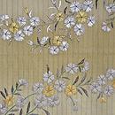撫子刺繍単衣帯 前中心