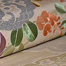 白地秋草の刺繍丸帯 質感・風合