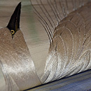 白鷺の刺繍丸帯 質感・風合