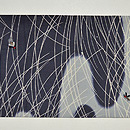 ホタルの図絽刺繍名古屋帯 前中心
