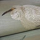 白鷺の刺繍絽名古屋帯 質感・風合