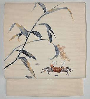 蟹の図絽名古屋帯