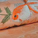 水草と金魚紋絽名古屋帯 質感・風合