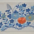 帷子解き名古屋帯(桔梗に萩、菊の図) 前中心