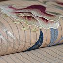 百合の刺繍名古屋帯 質感・風合