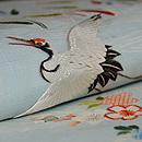 江戸裂解き飛翔鶴の図付帯 質感・風合