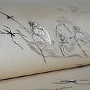 ミズスマシに虫達の図刺繍紗開名古屋帯 質感・風合