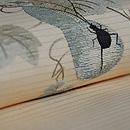 瓢箪に夏虫の図絽名古屋帯 質感・風合