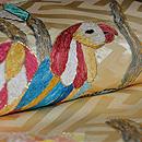 花喰い鳥リボン刺繍名古屋帯 質感・風合